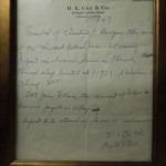 The Original Bill of Sale for the Beverly Record Shop, May 1967