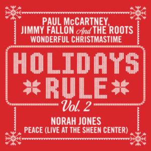 "MCCARTNEY, PAUL JIMMY FALLON NORAH JONES ""Wonderful Christmastime""/""Peace"" (RED)"